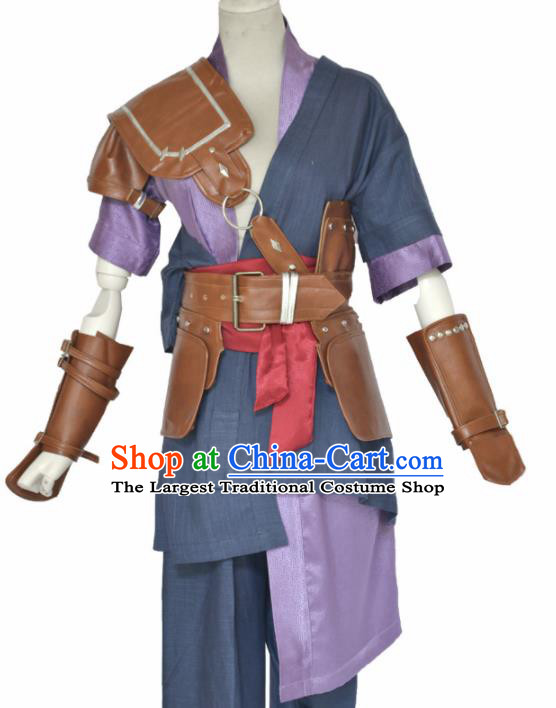 Traditional Chinese Cosplay Swordsman Clothing Ancient Young Hero Costume for Men