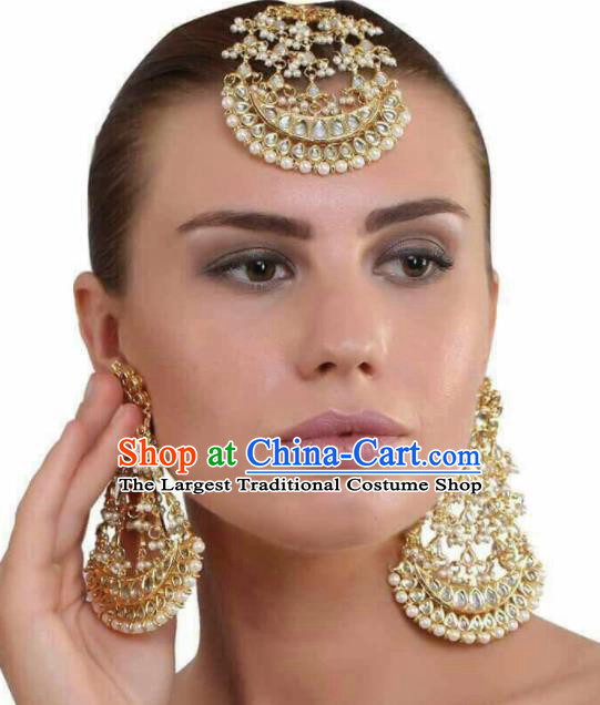 South Asian India Traditional Jewelry Accessories Asia Indian Bollywood Earrings Headwear for Women