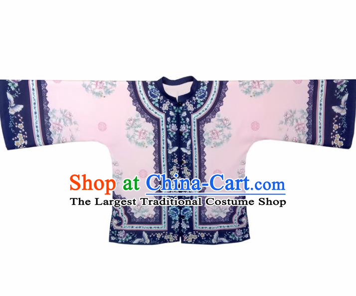 Traditional Chinese Tang Suit Pink Blouse Upper Outer Garment National Costume for Women