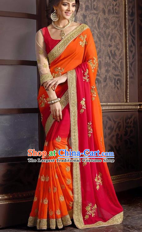 Indian Traditional Sari Dress Asian India Court Princess Bollywood Embroidered Costume for Women