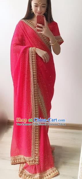 Indian Traditional Court Princess Sari Dress Asian India Bollywood Embroidered Costume for Women