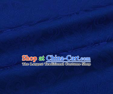 Chinese Traditional Clouds Pattern Design Silk Fabric Royalblue Brocade Tang Suit Fabric Material