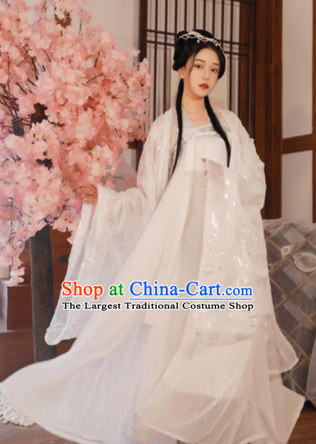 Ancient Chinese Peri Princess Historical Costume Traditional Tang Dynasty Court Hanfu Dress for Women