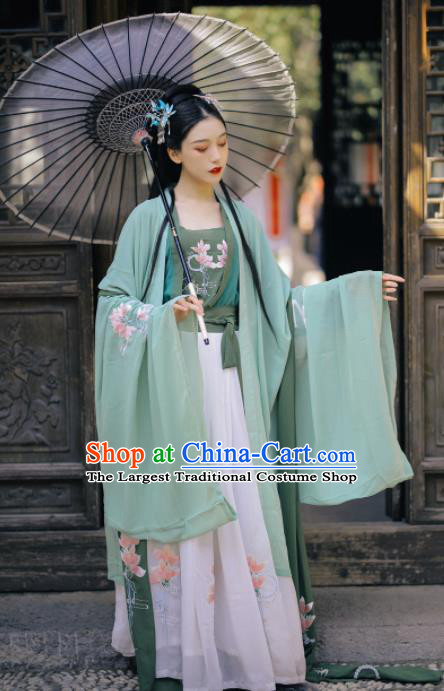 Chinese Ancient Geisha Historical Costume Traditional Ming Dynasty Court Princess Hanfu Dress for Women