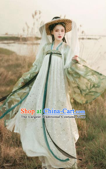 Asian Chinese Tang Dynasty Court Historical Costume Ancient Imperial Consort Traditional Hanfu Dress for Women