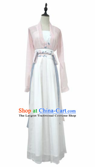 Chinese Traditional Song Dynasty Young Lady Historical Costume Ancient Swordswoman Hanfu Dress for Women