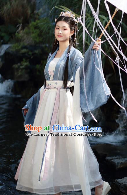 Chinese Traditional Ming Dynasty Court Princess Historical Costume Ancient Peri Fairy Hanfu Dress for Women