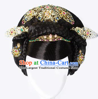 China Ancient Imperial Consort Hairpins Chinese Traditional Hanfu Hair Comb Hair Accessories for Women