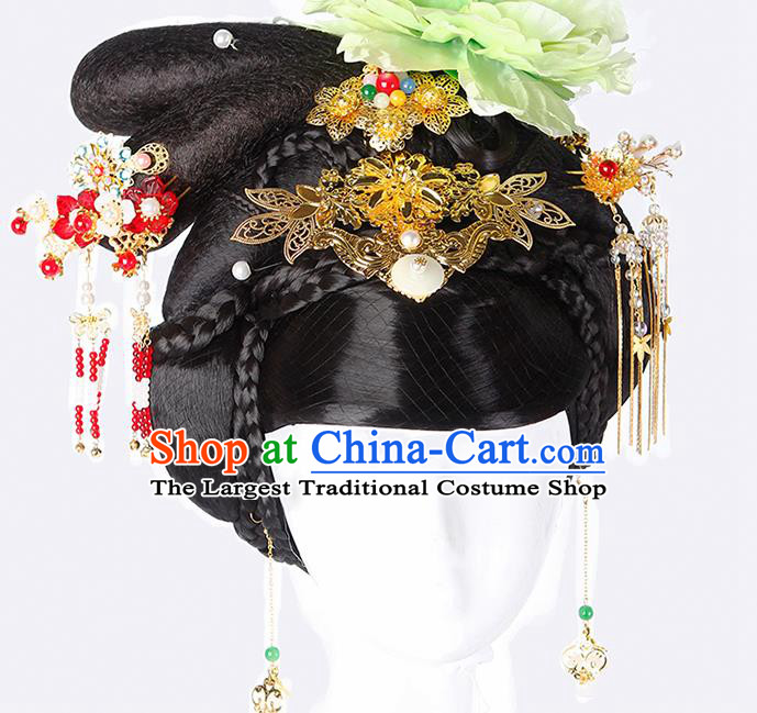 China Ancient Queen Hairpins Chinese Traditional Hanfu Hair Comb Hair Accessories for Women