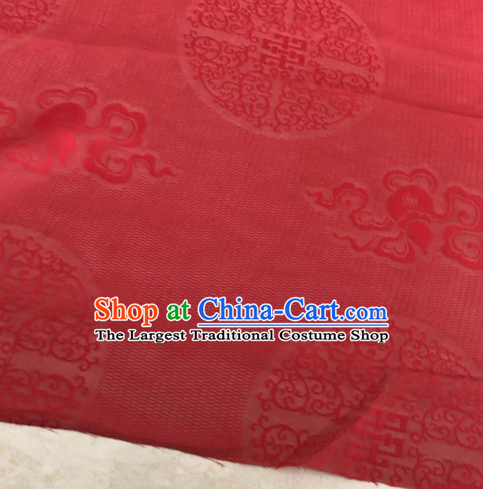 Asian Chinese Traditional Lucky Cucurbit Pattern Design Red Brocade Fabric Silk Fabric Chinese Fabric Asian Material