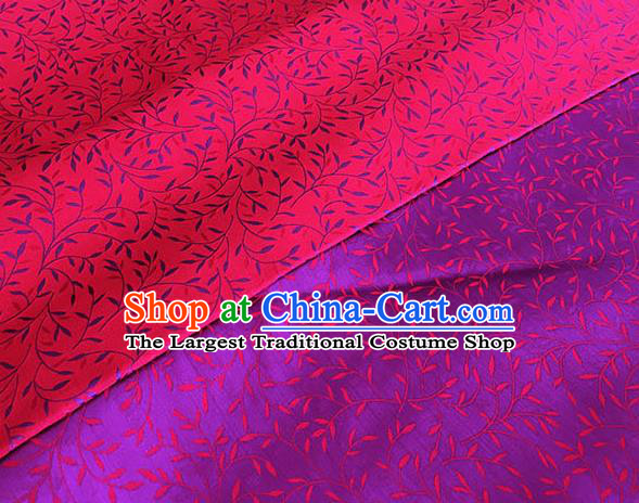 Asian Chinese Traditional Willow Branch Pattern Design Rosy Brocade Fabric Silk Fabric Chinese Fabric Asian Material
