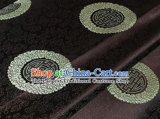 Asian Chinese Traditional Longevity Pattern Design Brown Brocade Fabric Silk Fabric Chinese Fabric Asian Material