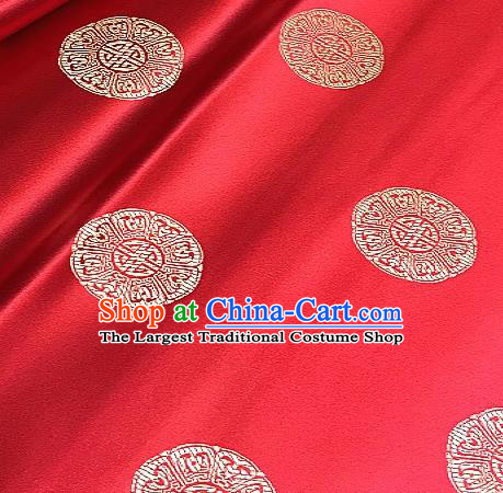 Asian Chinese Traditional Pattern Design Tibetan Robe Red Brocade Fabric Silk Fabric Chinese Fabric Asian Material