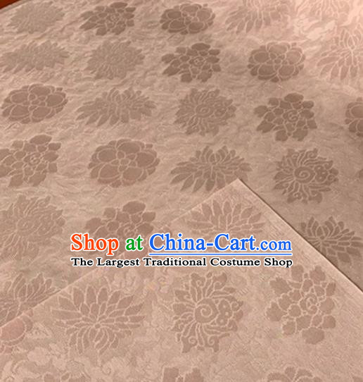 Chinese Traditional Rich Lotus Pattern Design Pink Brocade Fabric Asian Silk Fabric Chinese Fabric Material