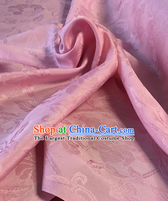 Chinese Traditional Vine Pattern Design Pink Brocade Fabric Asian Silk Fabric Chinese Fabric Material