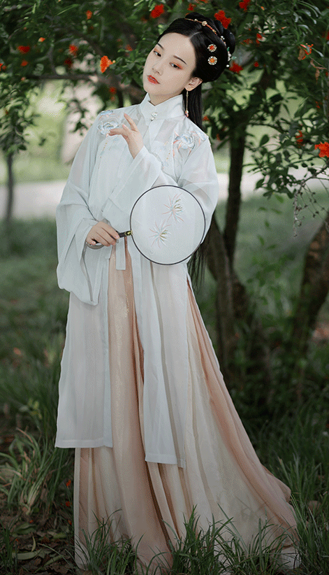 Traditional Chinese Ming Dynasty Rich Lady Hanfu Dress Ancient Embroidered Historical Costume for Women