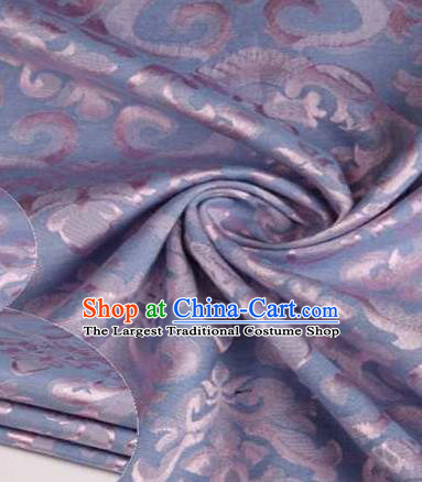 Chinese Classical Didymaotus Pattern Design Light Blue Brocade Traditional Hanfu Silk Fabric Tang Suit Fabric Material
