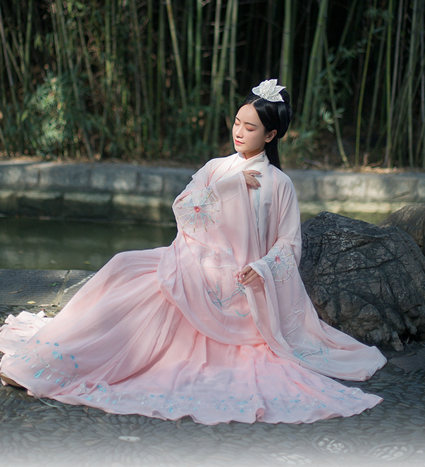 Traditional Chinese Jin Dynasty Court Lady Hanfu Dress Ancient Princess Embroidered Historical Costume for Women