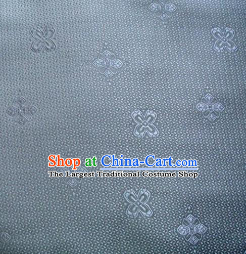 Chinese Classical Pattern Design Grey Blue Brocade Asian Traditional Hanfu Silk Fabric Tang Suit Fabric Material