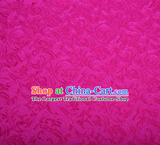 Chinese Classical Pattern Design Rosy Brocade Asian Traditional Hanfu Silk Fabric Tang Suit Fabric Material