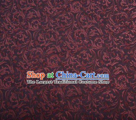 Chinese Classical Pattern Design Brown Brocade Asian Traditional Hanfu Silk Fabric Tang Suit Fabric Material