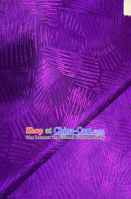 Chinese Classical Pattern Design Purple Brocade Asian Traditional Hanfu Silk Fabric Tang Suit Fabric Material