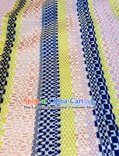 Chinese Classical Pattern Design Colorful Brocade Asian Traditional Tibetan Robe Silk Fabric Tang Suit Fabric Material