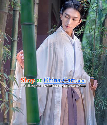 Traditional Chinese Song Dynasty Nobility Childe Embroidered Hanfu Clothing Ancient Drama Prince Historical Costume for Men
