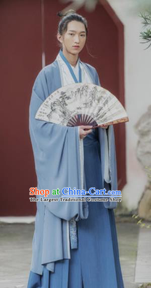 Traditional Chinese Song Dynasty Prince Embroidered Clothing Ancient Drama Nobility Childe Historical Costume for Men