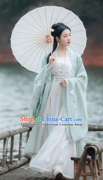 Traditional Chinese Tang Dynasty Princess Embroidered Hanfu Dress Ancient Drama Peri Historical Costume for Women