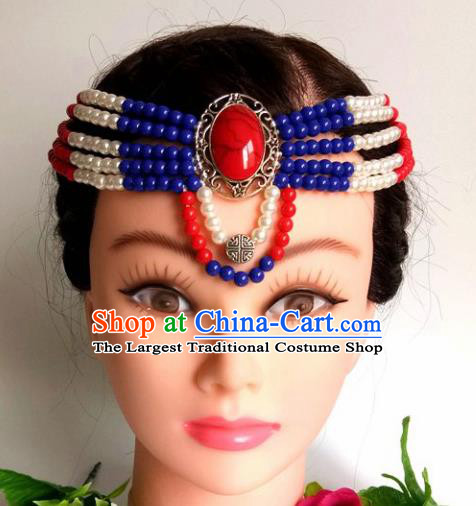 Chinese Traditional Mongol Nationality Female Hair Clasp Mongolian Ethnic Dance Headband Accessories for Women