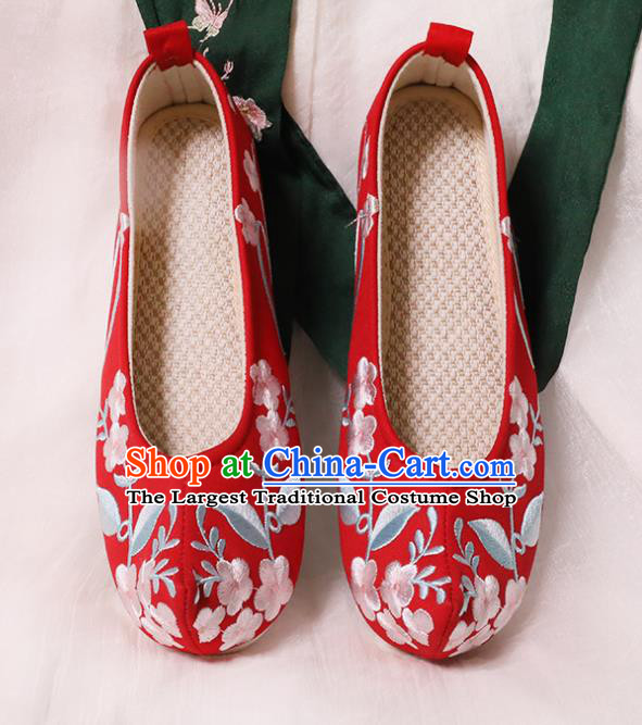 Chinese Shoes Wedding Red Shoes Opera Shoes Hanfu Princess Shoes Embroidered Shoes for Women