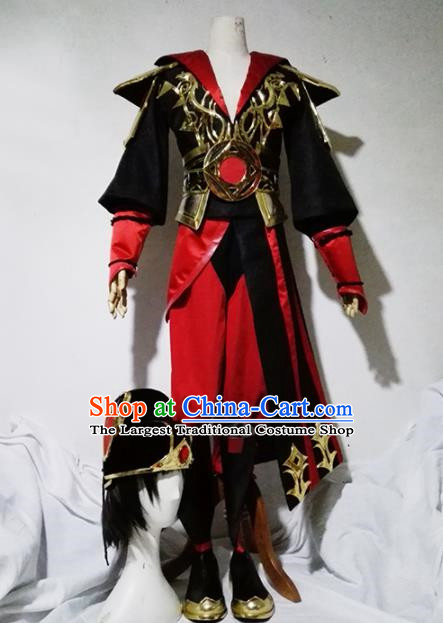 Chinese Traditional Cosplay Game Di Renjie Armour Costume Ancient Swordsman Hanfu Clothing for Men