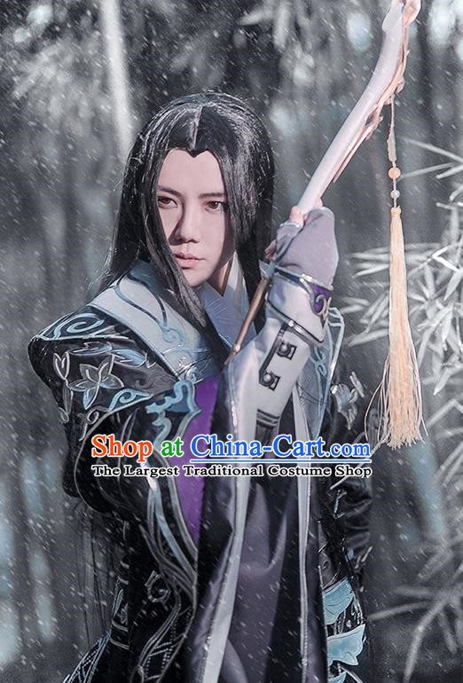Chinese Traditional Cosplay General Costume Ancient Swordsman Hanfu Clothing for Men