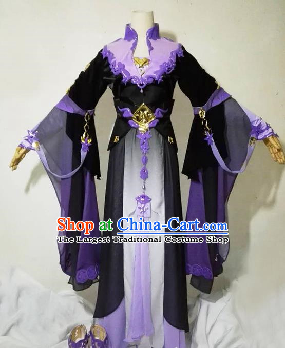 Chinese Traditional Cosplay Heroine Female Knight Costume Ancient Swordsman Dress for Women