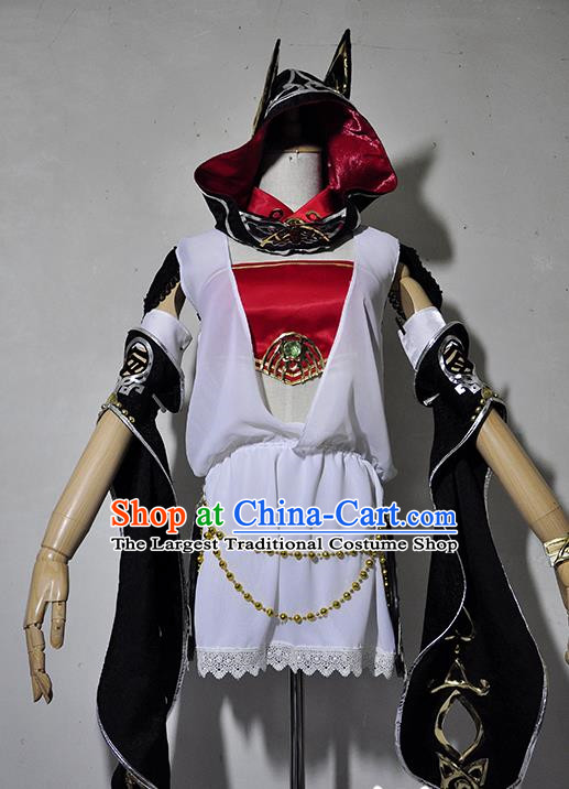 Chinese Traditional Cosplay Young Lady Costume Ancient Swordsman Dress for Women