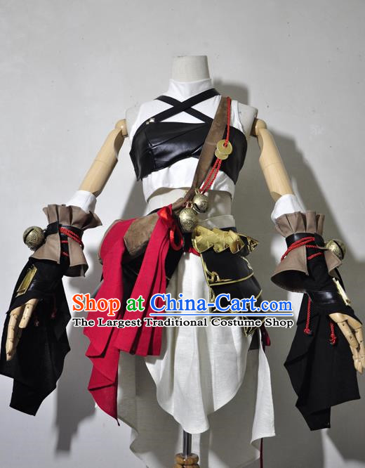 Top Grade Cosplay Assassin Young Lady Costume Ancient Female Swordsman White Dress for Women