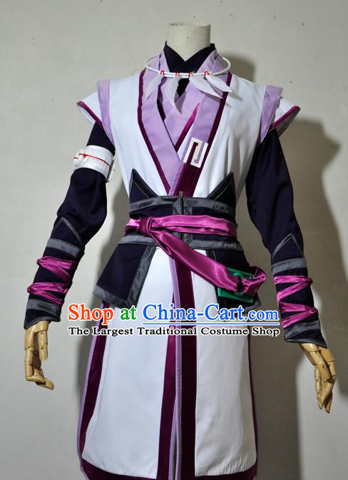 Chinese Traditional Cosplay Taoist Priest Young Hero Costume Ancient Swordsman Hanfu Clothing for Men