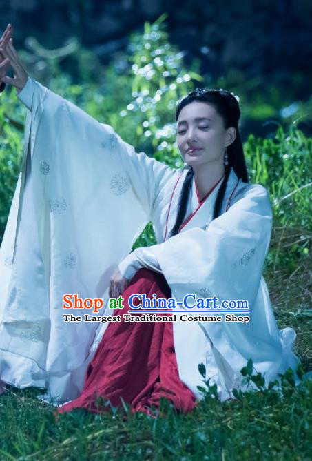 Drama The Legend of Deification Su Daji Chinese Ancient Shang Dynasty Imperial Consort Historical Costume and Headpiece Complete Set