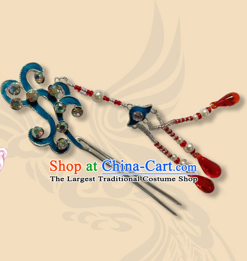 Chinese Ancient Court Queen Phoenix Tassel Hairpins Traditional Beijing Opera Diva Hair Accessories for Women