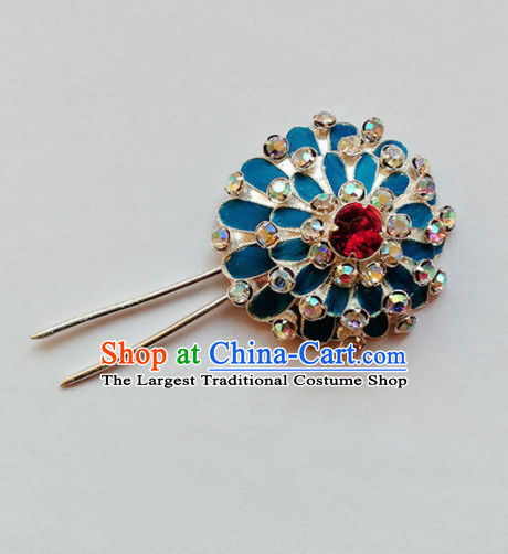 Chinese Ancient Court Princess Crystal Hair Clip Hairpins Traditional Beijing Opera Diva Hair Accessories for Adults