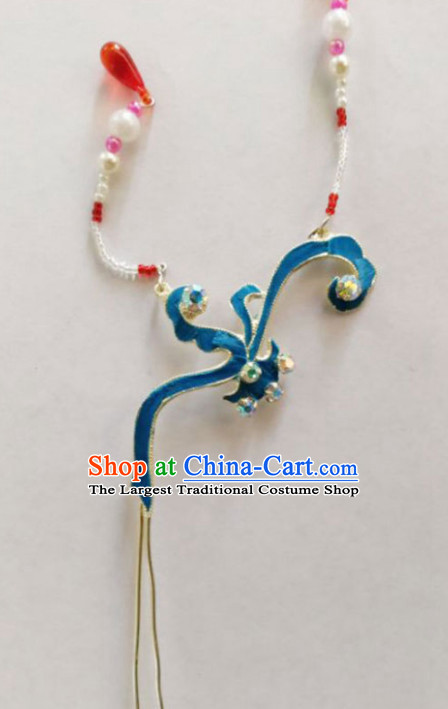 Chinese Ancient Court Princess Tassel Hair Clip Hairpins Traditional Beijing Opera Diva Hair Accessories for Adults