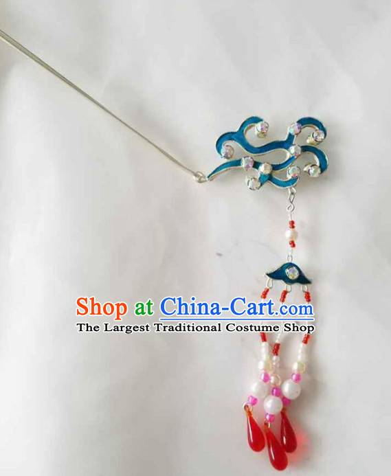 Chinese Ancient Court Princess Tassel Hairpins Traditional Beijing Opera Diva Hair Accessories for Adults