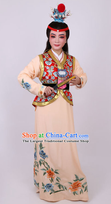 Chinese Traditional Beijing Opera Niche Scholar Orange Robe Ancient Nobility Childe Costume for Men