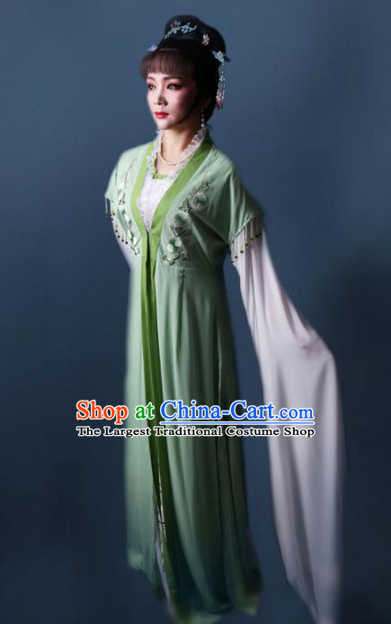 Chinese Traditional Opera Peri Princess Green Dress Ancient Beijing Opera Diva Embroidered Costume for Women