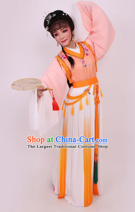 Chinese Traditional Opera Peri Princess Pink Dress Ancient Beijing Opera Diva Embroidered Costume for Women