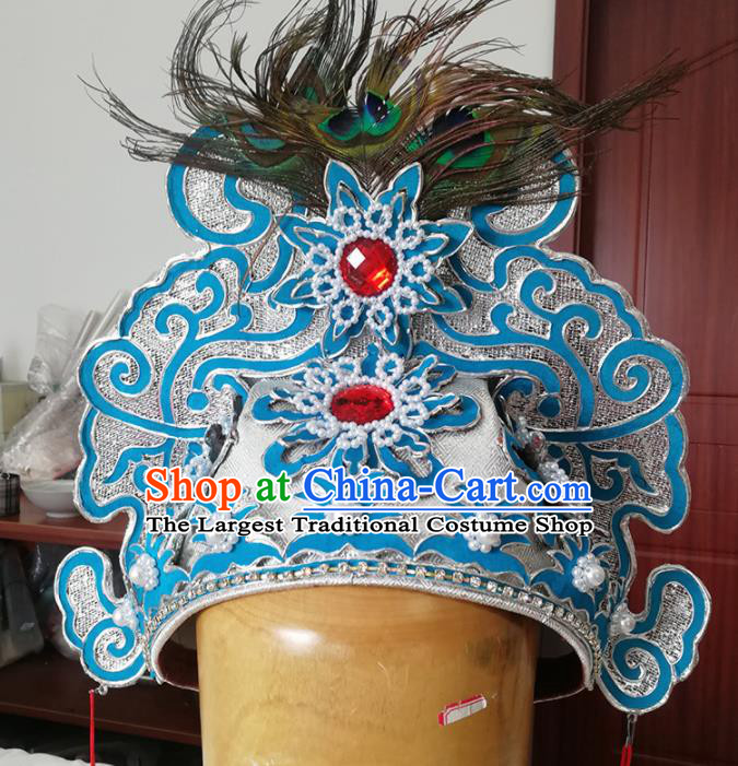 Chinese Ancient Nobility Childe Hat Traditional Beijing Opera Niche Headwear Hair Accessories for Adults