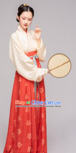 Chinese Ancient Song Dynasty Maidenform Hanfu Dress Traditional Nobility Lady Costume for Women