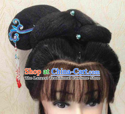 Chinese Ancient Princess Hairpins and Wigs Traditional Beijing Opera Diva Headwear Hair Accessories for Adults