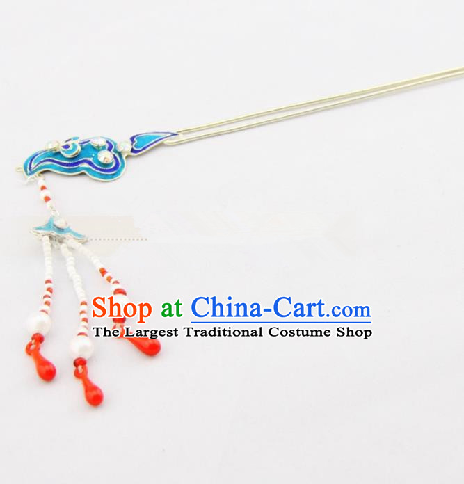 Chinese Ancient Princess Cloud Tassel Hairpins Traditional Beijing Opera Diva Headwear Hair Accessories for Adults